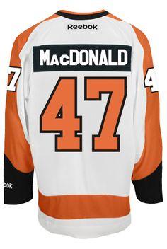 5e08f9bab Andrew MacDonald Philadelphia Flyers NHL Away Reebok Premier Hockey Jersey  CoolHockey