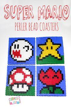 Super Mario Perler Bead Coasters