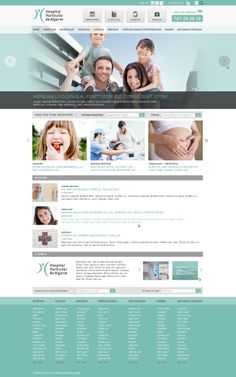 Hospital Particular do Algarve web design proposal