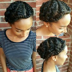 A shot from yesterday, I finally tried flat twist. I know my lines aren't perfect  so I have something to work on with this style but I must say I love it! It defined my curls when I took them down but I also found a cute way to make it a flat twist updo. I used organic coconut oil, Shea Moisture Curl Enhancing Smoothie and Eco Styler gel- Olive oil.
