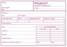 Príjmový pokladničný doklad | Účtovné tlačivá | ipdf.sk