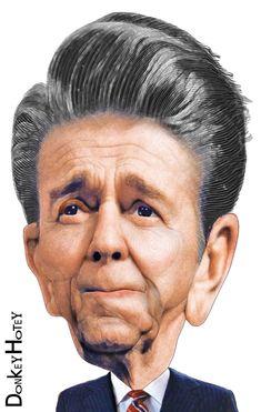 Ronald Reagan - Caricature | Flickr - Photo Sharing!
