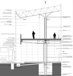 Cantilever Architecture, Detail Architecture, Architecture Concept Diagram, Industrial Architecture, Architecture Plan, Steel Structure Buildings, Timber Structure, Section Drawing Architecture, Free Infographic Templates