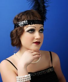 For Gatsby Dress up Day- 1920s makeup styles and tone