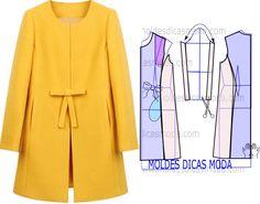 Sensational Tips Sewing Pattern Ideas. Brilliant Tips Sewing Pattern Ideas. Easy Sewing Patterns, Coat Patterns, Vintage Sewing Patterns, Dress Patterns, Sewing Clothes, Diy Clothes, Clothes For Women, Jacket Pattern, Dressmaking