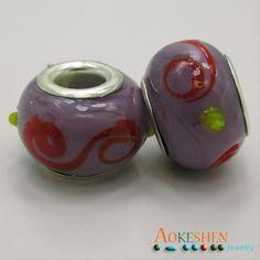 $1.39  Purple Beads Lamp-work Millefiori Glass European Style Charms http://www.eozy.com/purple-beads-lamp-work-millefiori-glass-european-style-charms