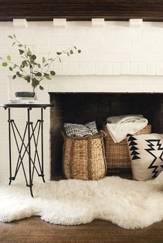 6 Astounding Cool Tips: Fake Fireplace Bathroom fireplace screen pictures.Tv Over Fireplace Rustic fireplace romantic chairs.Fireplace And Tv Projects. Empty Fireplace Ideas, Unused Fireplace, Candles In Fireplace, Fireplace Hearth, White Fireplace, Fireplace Decorations, Fireplace Kitchen, Shiplap Fireplace, Ideas For Fireplace Decor