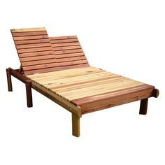 Outdoor Best Redwood Double Beach Chaise Lounge