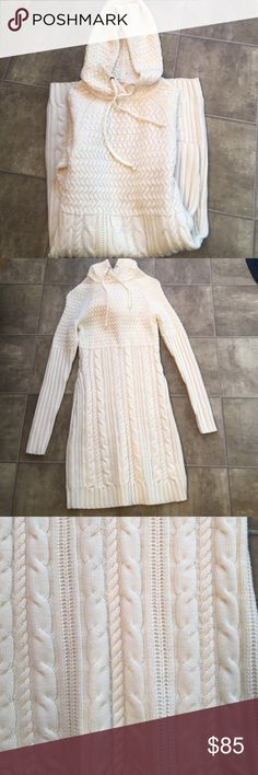 Athleta Hoodie Dress. NWOT Words cannot do this piece justice. Wife never wore it. Bought without trying on. Will not last long. Color is off white Athleta Dresses