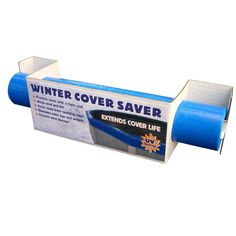 Extend the life of your winter pool cover by eliminating damage from high winds by adding Winter Cover Seal. It creates a tight seal around the top rail of your pool and cover creating a strong bond t