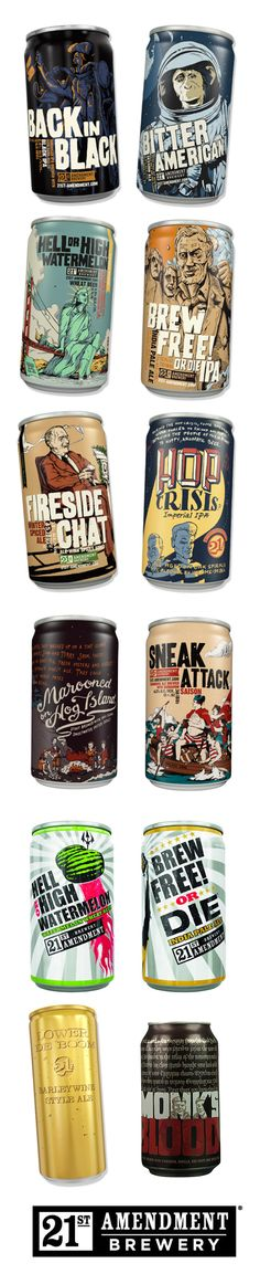 San Francisco's 21st Amendment Brewery Beer cans