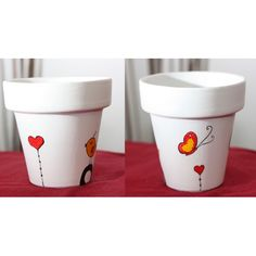 New painting flower pots ideas candle holders ideas Clay Pot Projects, Clay Pot Crafts, Painted Clay Pots, Painted Flower Pots, Painting Glass Jars, Clay Pot People, Flower Pot Crafts, Mosaic Pots, Pottery Designs