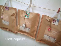 stitched paper package