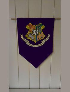 Harry Potter Hogwarts Crest  Wall Hanging by ThisShopReallyRocks