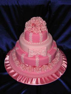 #omg #pink #babygirl #babyshower #cake