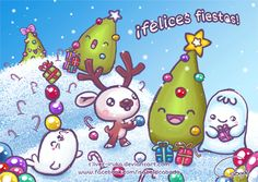 ¡Felices Fiestas! by Isabel D. Cabado http://silver-iruka.deviantart.com
