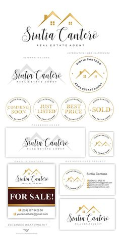 Home Logo Design House Real Estates 63 New Ideas Real Estate Logo Design, Real Estate Branding, Real Estate Business Cards, Real Estate Marketing, Branding Kit, Luxury Branding, Brand Identity, Identity Design, Realtor Logo