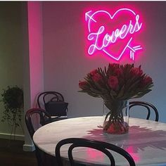 Style up your home for Valentines Day with heart neon sign. #neonlight #neonaesthetic Neon Lamp, Lighting Companies, Neon Aesthetic, Custom Neon Signs, Neon Lighting, Poodle, Valentines, Lights, Photo And Video