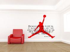 Michael Jordan Decal, Michael Jordan Quote, Basketball Decal, Michael Jordan Art, Michael Jordan Wall Decal, Basketball Decor, Inspirational