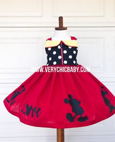 Mickeys clubhouse is the perfect piece for the girl who loves everything regarding Mickey & friends. This dress celebrates our clubhouse. Mickey Mouse Dress, Minnie Mouse Birthday Outfit, Mickey Mouse Costume, Minnie Dress, Couple Halloween Costumes For Adults, Couple Costumes, Disney Costumes, Baby Costumes, Adult Costumes