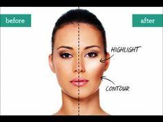 """▶ EFECTO """"CELEBRITY & LIFTING"""" Técnica: PUNTOS DE LUZ.La 1ra. parte del maquillaje - YouTube"""