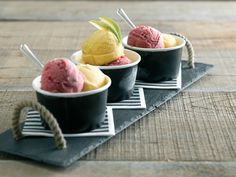 Packnwood UK - Black Paper cup (from 2 oz to 11 oz) Eco-friendly dessert presentation.