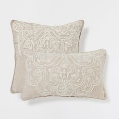 Embroidered Damask Linen Cushion - Cushions - Bedroom | Zara Home France