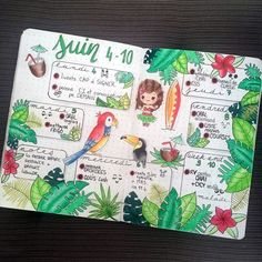 Whether its for a summer spread or a tropical spread, these 33 tropical inspired bullet journal spreads are sure to make you feel like taking a holiday! Mind Map Art, Mind Maps, Bullet Journal Spreads, Bullet Journal Notes, Bellet Journal, Mind Map Design, Jazz Age, Journal Layout, Bullet Journal Inspiration