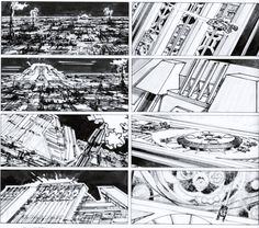 "blade runner 1982 Tom Cranham ""Love the simplicity of the rendering"" KB"