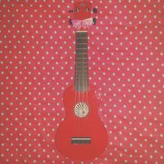 My ladybug 🐞  #ukulele #music #cute #girly #polkadot #bow