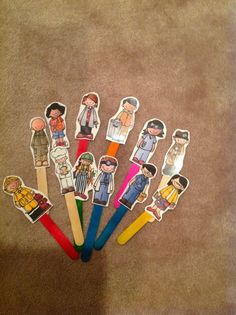 Preschool Printables: Free Community Helpers Sentences--also has stick puppets