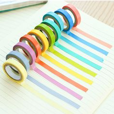 sif Impression DIY Scrapbooking Déco Washi Bande Lot Scrapbooking, Diy Scrapbook, Bullet Journal Tools, Bullet Journals, Masking Tape, Washi Tapes, Stationary Items, Sticky Paper, Rainbow Candy