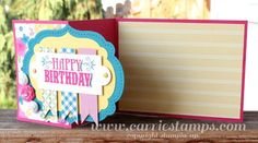 A fold card using die cut layer and paper ribbons. Nice use of dsp.