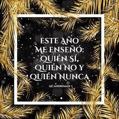 9d29297438c5 Este año me enseñó: quién sí, quién no y quién nunca. Frases Para El Face Frases De Año NuevoFrases De Amor ...