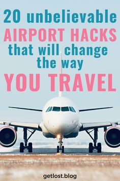 Do you want to know how you can take the stress out of your airport experience? We're share 20 top airport hacks that will change the way you travel forever! From check-in hacks to boarding hacks and everything in between. These top airport tips will make every stage of your airport journey easy. Click the pin to find out how! Travel Hacks | Travel Tips | Airport Tips | Flight Tips | International Travel