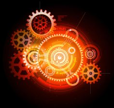 Illustration about Glowing techno gears on the dark background. Illustration of circle, connect, engineering - 18128223 Free Vector Images, Vector Free, Compass Vector, Computer Vector, Vector Technology, Laptops For Sale, Retro Background, Sale Flyer, Retail Logo