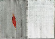 Day 9 Hangzhou leaf. Chalk pastel (wetted) on gouache