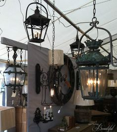 All Things Beautiful: {Marburger Farms} Antique Show in a Day Antique Lighting. Light fixtures