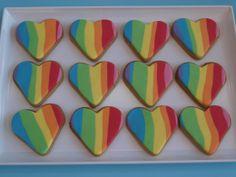 Rainbow cookies #rainbow #cookies
