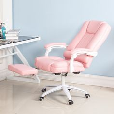 Cheap Office Chairs, Buy Directly from China Suppliers:Computer Student Main Sowing Backrest Chair Bedroom Solo Sofa Lovely Girl Economics Type Princess European Pink Colour My Furniture, Leather Furniture, My New Room, My Room, Bedroom Chair, Bedroom Decor, Cheap Office Chairs, Pink Office, Game Room Design