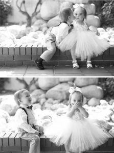 The bride isn't the only one who will get a kiss today! + 10 Adorable Kid Moments at Weddings