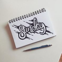 Sunday' - 339//365 #type #type365 #typeday #typelove #typespire #typography #typechallenge #typematters #sunday #challenge #letter #lettering #handletter #handmadefont