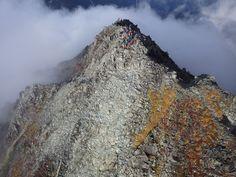 剱岳の山頂上空からカイトフォト(Kite Aerial Photography)