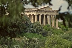 The Temple of Hephaestus or Thisseion is one of the best preserved ancient temples in Greece and one of the most interesting sights of Ancient Agora of Athens. Athens Hotel, Athens Greece, Greek Cruise, Greece Photography, Castle Ruins, Ancient Greek, Temples, The Locals, Castles