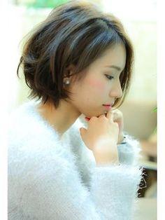 【Natura 栄】*大人かわいいショートボブ*サイドversion - 24時間いつでもWEB予約OK!ヘアスタイル10万点以上掲載!お気に入りの髪型、人気のヘアスタイルを探すならKirei Style[キレイスタイル]で。