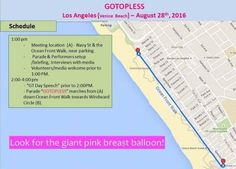 GoTopless Pride Parade in Venice Beach CA to mark 9th Annual GoTopless Day on Aug. 28
