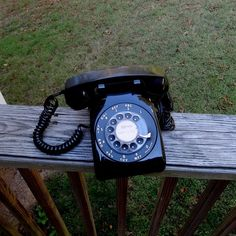 1970s Vintage Rotary Dial Telephone in Beautiful Pristine Black by ITT, Non-Removable Cords, Classic Rotary Phone, Historical Black Phone by VictorianWardrobe on Etsy