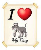 Quiero a mi perro — Ilustración de stock #67129865