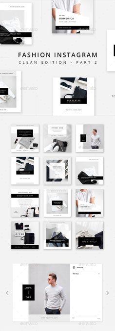 Fashion Instagram - Clean Edition - Part 2 - Social Media Web Elements