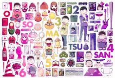 Osomatsu-san: Osomatsu, Karamatsu, Choromatsu, Ichimatsu, Jyushimatsu and Todomatsu Otaku, Me Me Me Anime, Anime Guys, Anime Siblings, Cat Work, Sans Cute, Anime Drawing Styles, Ichimatsu, Pin Art